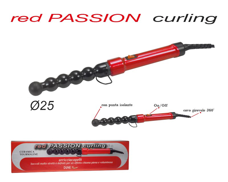 Red Passion CURLING 25mm